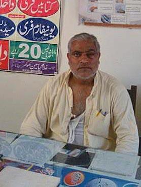 Saddique Azam hyökkäyksen jälkeen. Kuva: Morning Star News, Azamin asianajaja