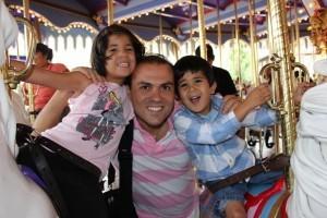 Abedini ja lapset. Kuva ACLJ