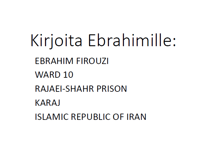 Ebrahim Firouzi osoite