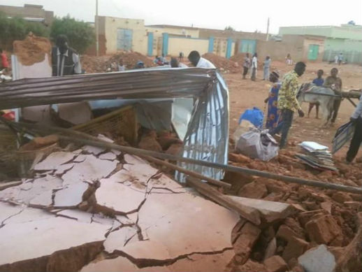 Omdurmanissa tuhottu kirkko. Kuva: World Watch Monitor