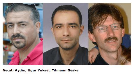 Necati Aydin ja Ugur Yuksel olivat kristinuskoon kääntyneitä entisiä muslimeja. Tilmann Geske oli Saksan kansalainen.