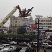 Gu Yuese on vastustanut ristien poistamista kirkkojen katoilta. Kuva: China Aid